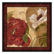 """Floral Aura II"" Framed Canvas Wall Art by Maria Donovan"