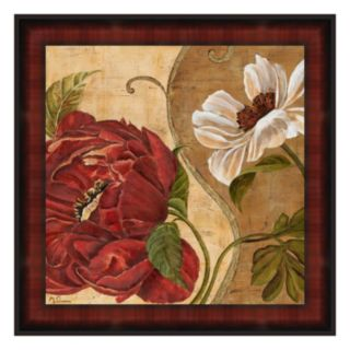 Floral Aura II Framed Canvas Wall Art By Maria Donovan