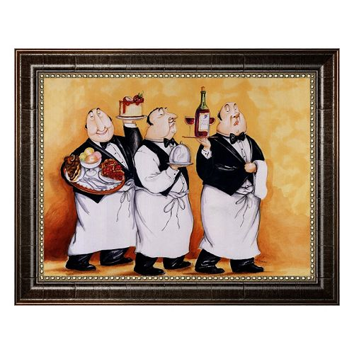 """Haute Cuisine II"" Framed Canvas Wall Art by Tracy Flickinger"