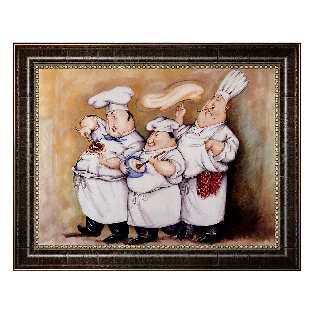 ''Haute Cuisine I'' Framed Canvas Wall Art by Tracy Flickinger