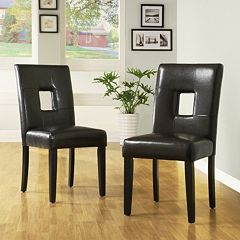 HomeVance 2 pc Square Side Chair Set