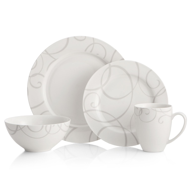 sc 1 st  Kohlu0027s & Oneida Symphony Gray 16-pc. Dinnerware Set