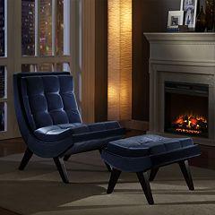 HomeVance 2-pc. Maya Chaise & Ottoman Set