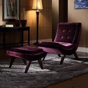 HomeVance 2 pc Maya Chaise & Ottoman Set