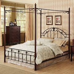 HomeVance Angela 3-pc. Queen Headboard, Footboard & Frame Canopy Bed Set