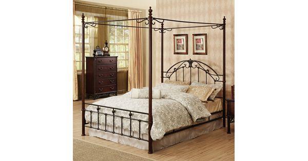 homevance angela 3 pc queen headboard footboard frame canopy bed set. Black Bedroom Furniture Sets. Home Design Ideas