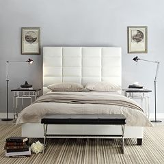 HomeVance Lorin 3-pc. Full Platform Headboard, Footboard & Frame Set