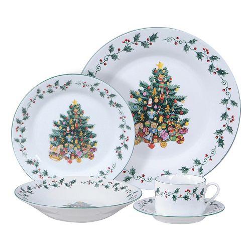 Kohls Christmas Dishes.Gibson Everyday Tree Trimmings 20 Pc Christmas