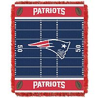 New England Patriots Baby Jacquard Throw