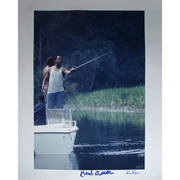 Steiner Sports Hank Aaron Fishing 16'' x 20'' Signed Photo