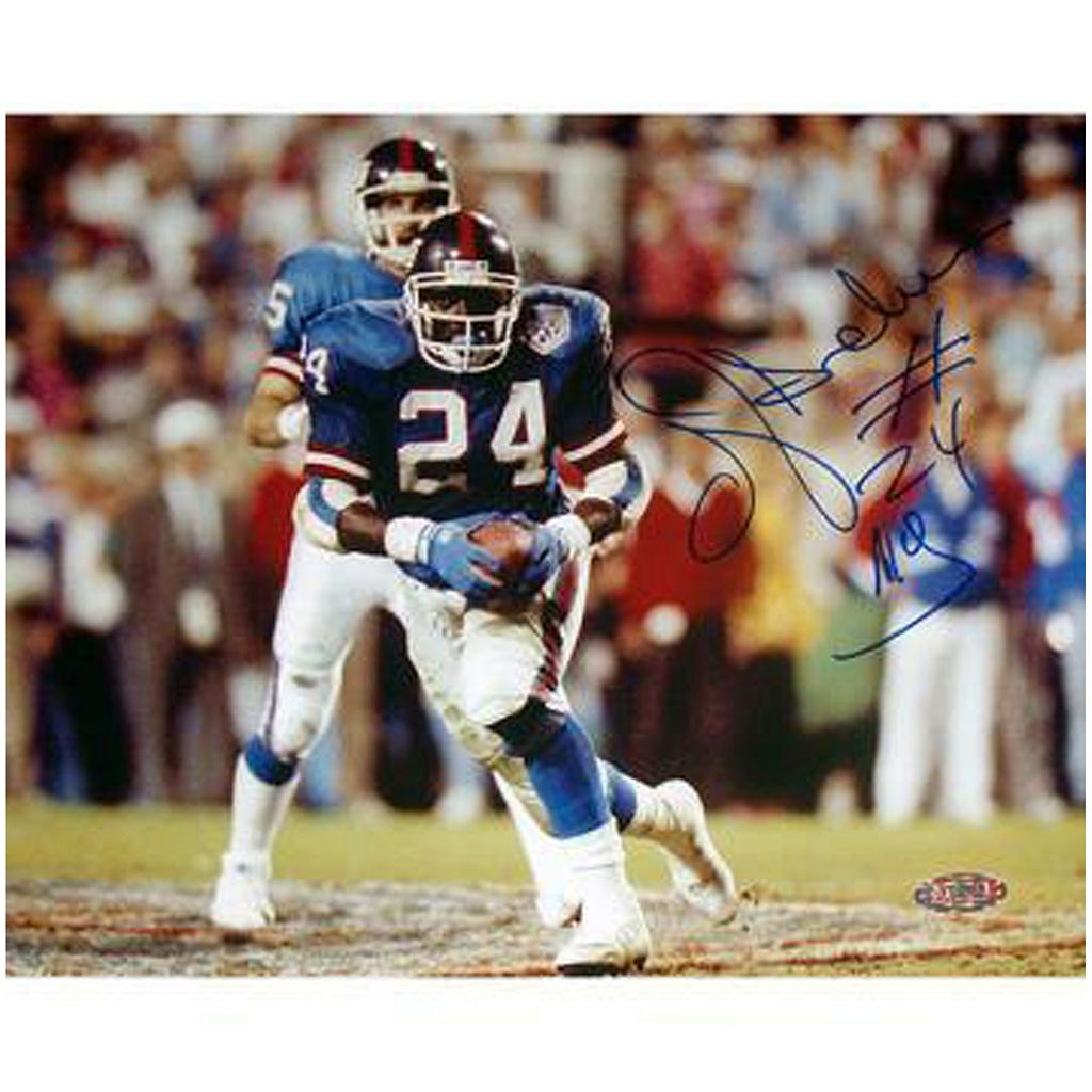 Steiner Sports OJ Anderson Rushing Ball Giants Blue Jersey 8'' x 10'' Signed Photo
