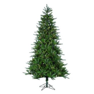 Sterling 7.5-ft Clear Pre-Lit Natural Cut Franklin Spruce Artificial Christmas Tree - Indoor