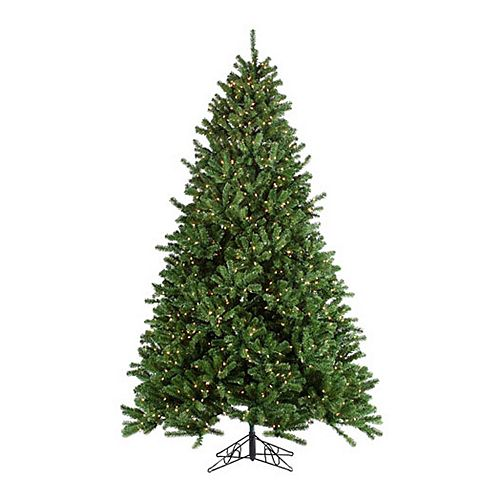 Grand Christmas Tree: Sterling 9-ft. Pre-Lit Clear Grand Canyon Spruce