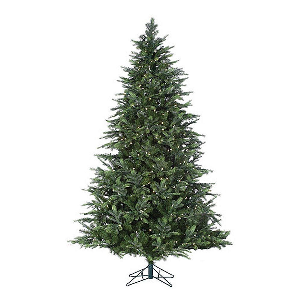 sterling 7 ft pre lit warm white led fairmont pine artificial christmas tree indoor - Sterling Christmas Trees