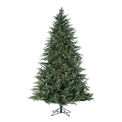 sterling 7 ft pre lit warm white led fairmont pine artificial christmas tree indoor