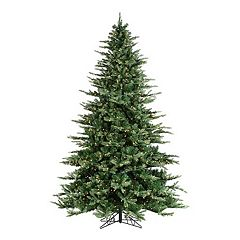 clear pre lit layered highlands pine artificial christmas tree - Pre Lit Decorated Christmas Trees