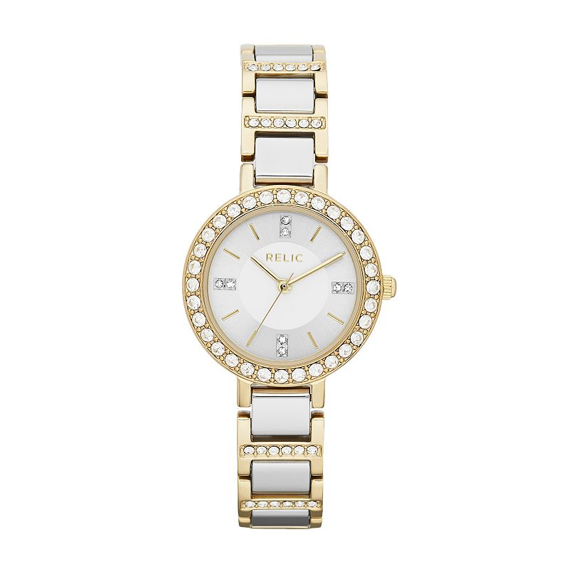 Relic Kerri Two Tone Stainless Steel Crystal Watch - Made with Swarovski Elements - ZR34260 - Women