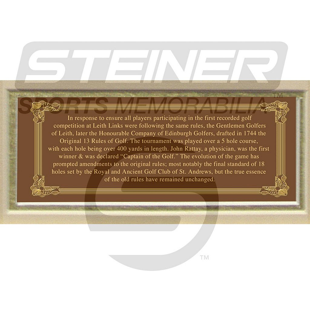 Steiner Sports Original 13 Rules of Golf Framed Wall Art