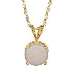 14k Gold Opal Pendant