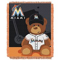 Miami Marlins Baby Jacquard Throw