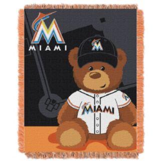 Miami Marlins Baby Jacquard Throw