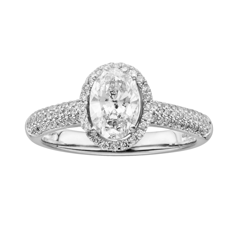 Oval Wedding Rings 84 Good T W Oval Cut