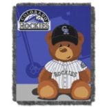 Colorado Rockies Baby Jacquard Throw