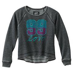 SO® '99 Love' Hi-Low Fleece Sweatshirt - Girls 7-16
