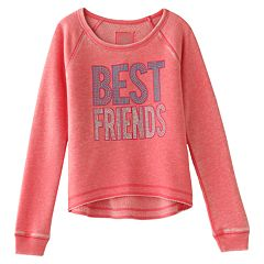 SO® 'Best Friends' Fleece Sweatshirt - Girls 7-16