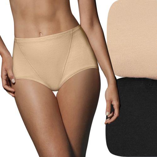 Bali One Smooth U 2-pk. Modern Cottony Shaping Briefs X864 - Women's