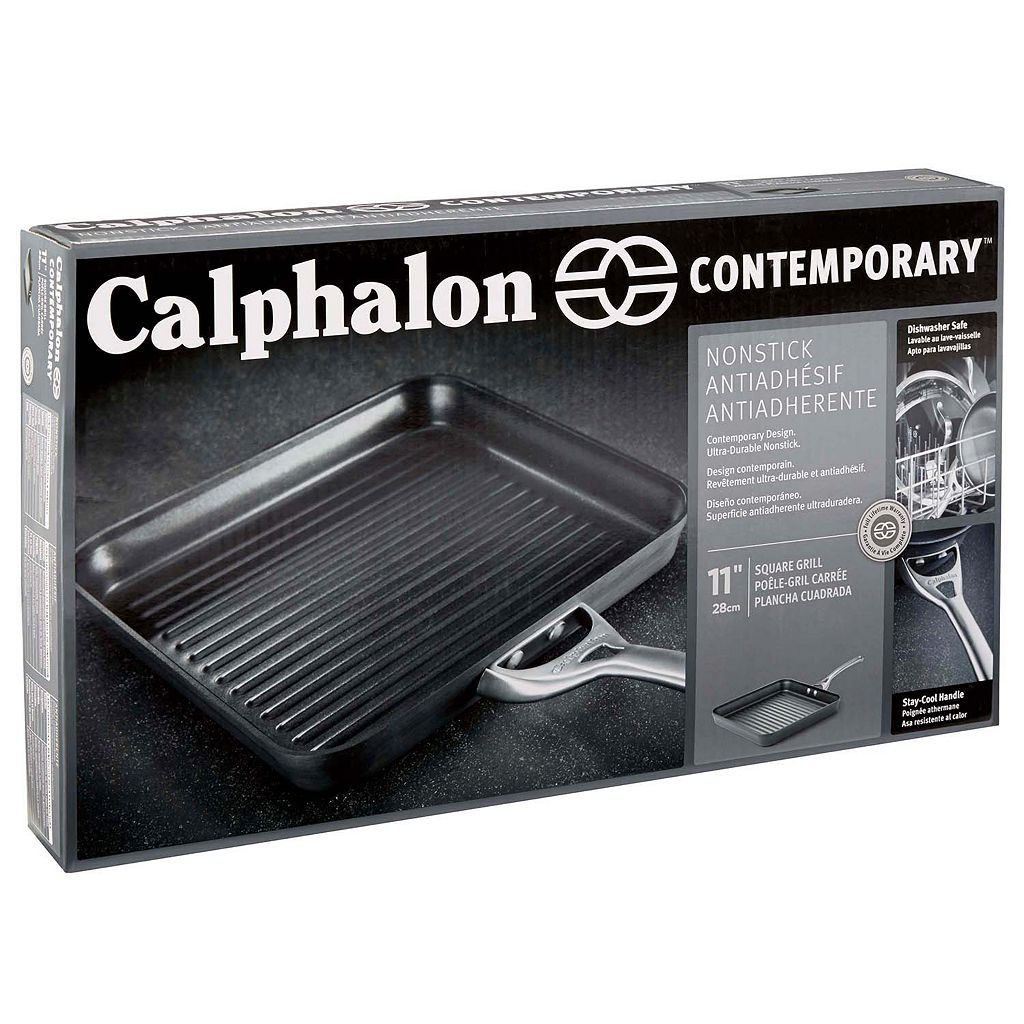 Calphalon Contemporary 11-in. Hard-Anodized Nonstick Square Grill Pan