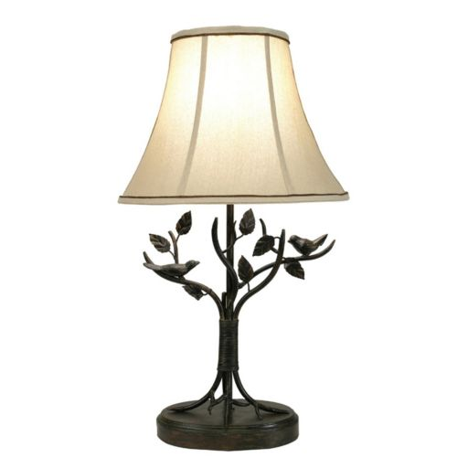 Bird and Leaf Table Lamp