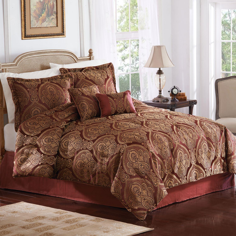Carlisle 6 Pc Fleur De Lis Comforter Set Queen 59 99