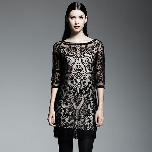 Catherine Malandrino for DesigNation Embroidered Shift Dress Set