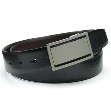 Apt. 9® Feather-Edge Cutout Plaque Reversible Faux-Leather Belt
