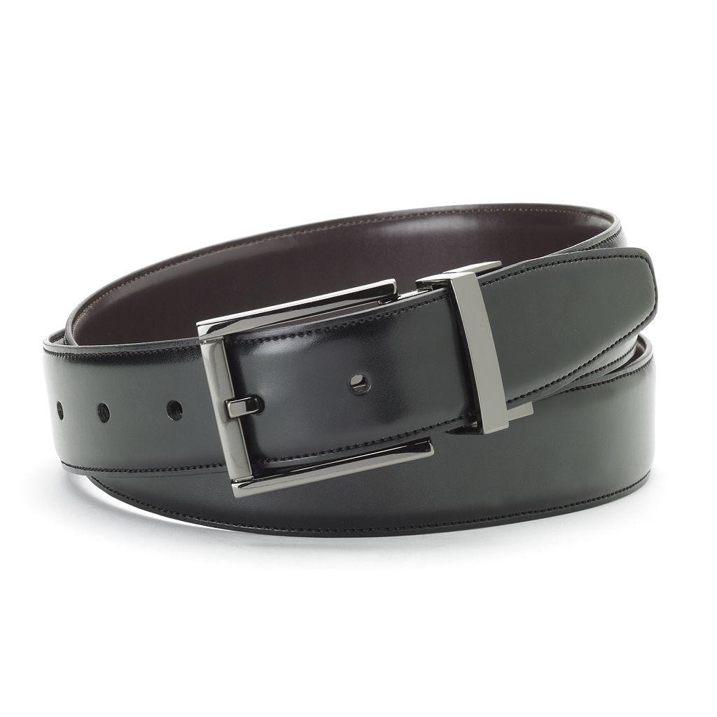 Apt. 9® Feather-Edge Reversible Leather Belt