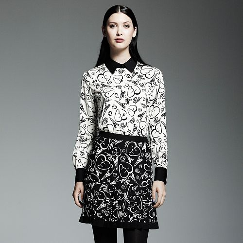 Catherine Malandrino for DesigNation Paris Print Blouse - Women's