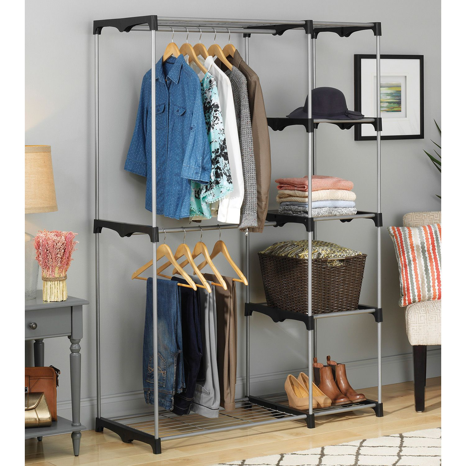 childrens rack of armoire size with together plus well shelves closet ikea wardrobe as kids full ebay