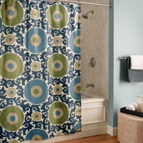M. Style Ottoman Blossom Fabric Shower Curtain