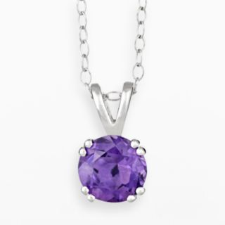 Sterling Silver African Amethyst Pendant