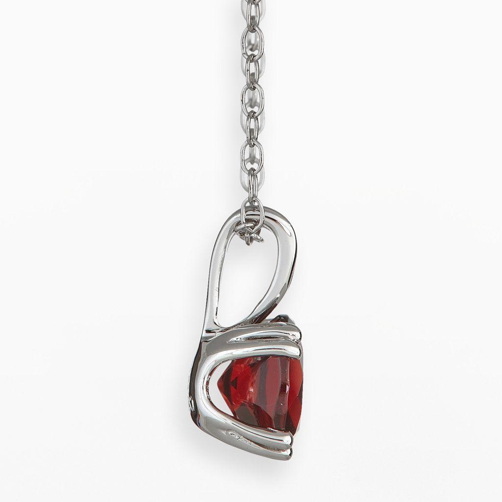 Sterling Silver Garnet Pendant