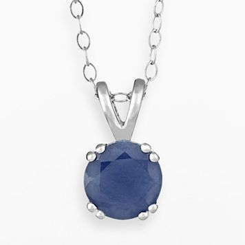 Sterling Silver Sapphire Pendant
