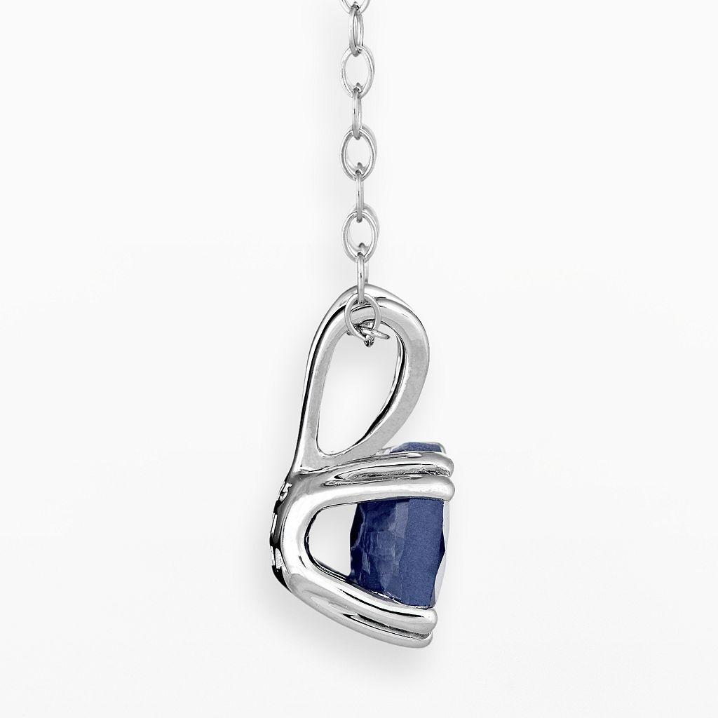 Sterling Silver Sapphire Pendant