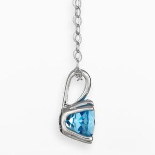 Sterling Silver Swiss Blue Topaz Pendant
