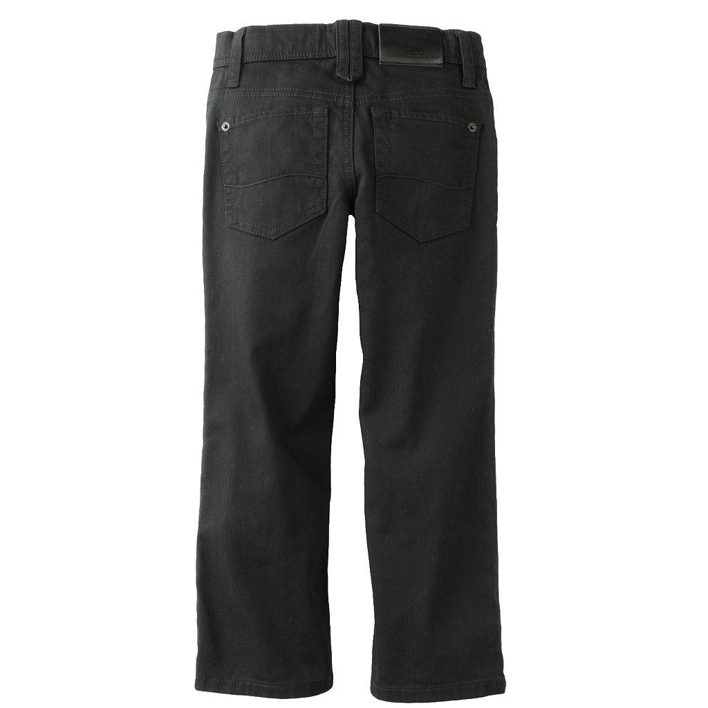 Boys 4-7x Lee Dungarees Black Skinny Jeans