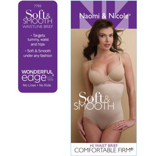 Naomi & Nicole Soft & Smooth High-Waist Brief 7755
