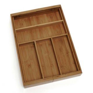 Lipper Bamboo Expandable Flatware Organizer