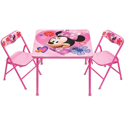 Superb Disneys Minnie Mouse Activity Table Chairs Set Customarchery Wood Chair Design Ideas Customarcherynet