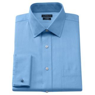 Men's Croft & Barrow® Classic-Fit Herringbone French Cuff No Iron Spread-Collar Dress Shirt
