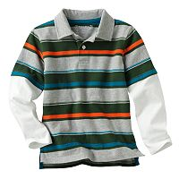 SONOMA Goods for Life™ Mock-Layer Striped Polo - Boys 4-7x